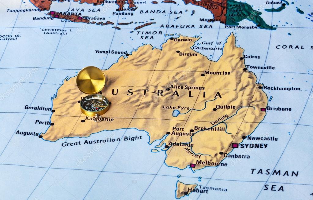 mapa da austrlia e bssola fundo de viagens fotografia por violin