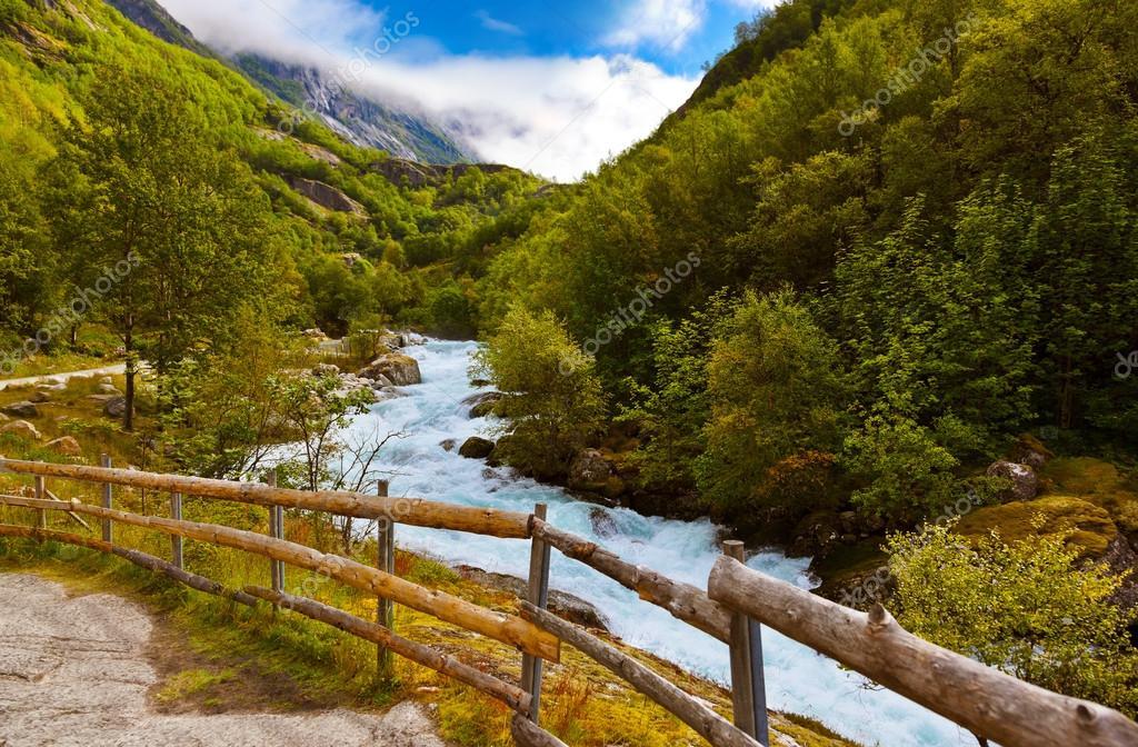 River near Briksdal glacier - Norway