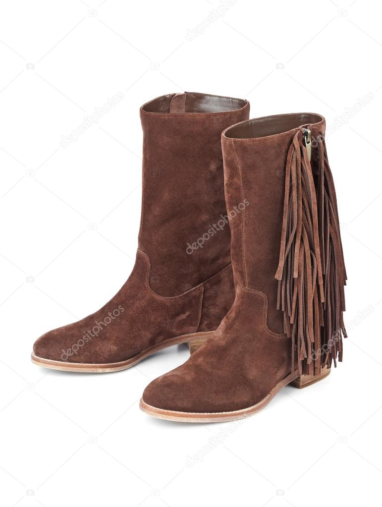 Womens Schuhe isoliert auf weiss — Stockfoto. Womens Stiefel isolierten auf weißen  Hintergrund ... 86d21e8504