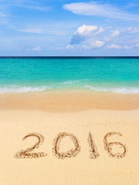 Numbers 2016 on beach