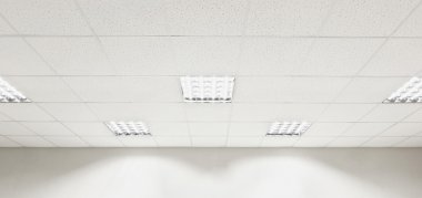Fluorescent lamp on ceiling