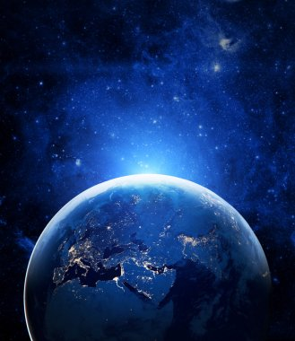 Earth planet in cosmos