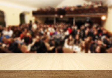 Blurred people meeting