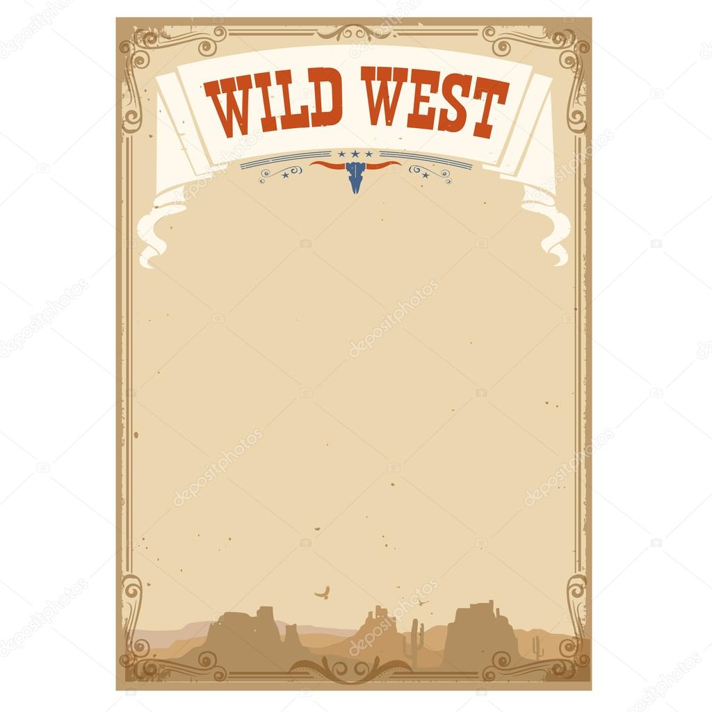 Fond de far west pour le texte illustration vectorielle for Fond pour les photos
