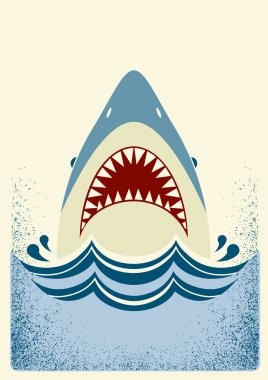 Shark jaws.Vector color illustration
