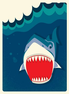 Danger Shark vector illustration