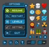 Rozhraní tlačítka pro space hry nebo aplikace