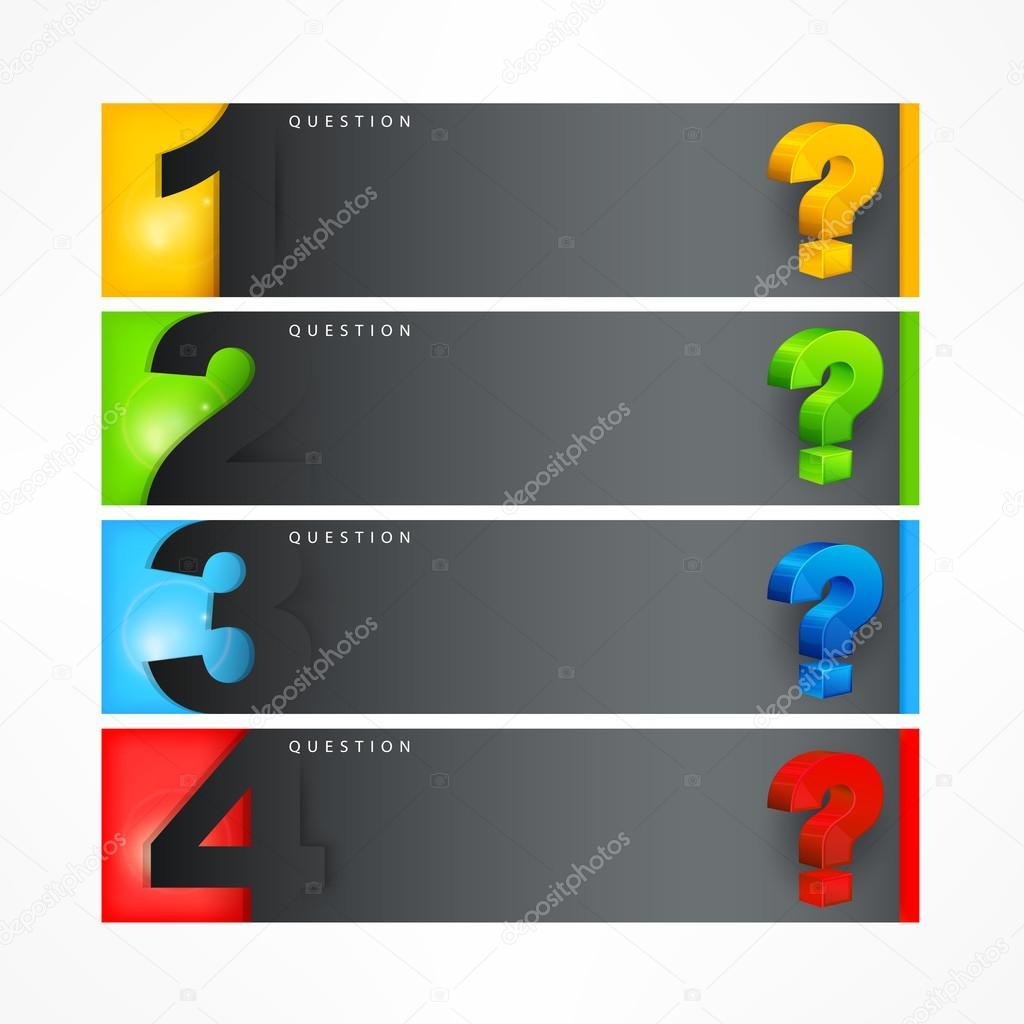 Question mark template — Stock Vector © creatOR76 #113025346