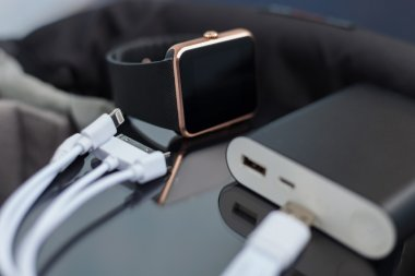 Portable powerbank charger and smart watch