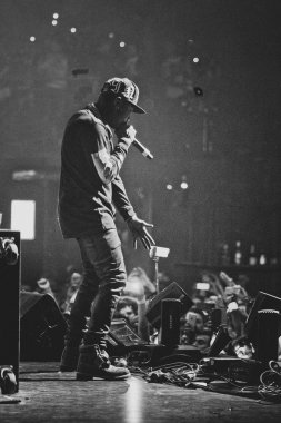 Tyga performing in Moscow, Russia