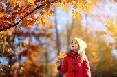Little girl having fun outdoors
