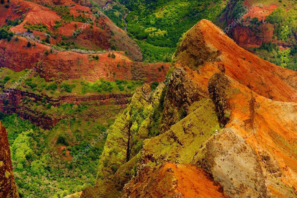 Waimea Canyon aerial view