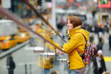 Young woman at Times Square