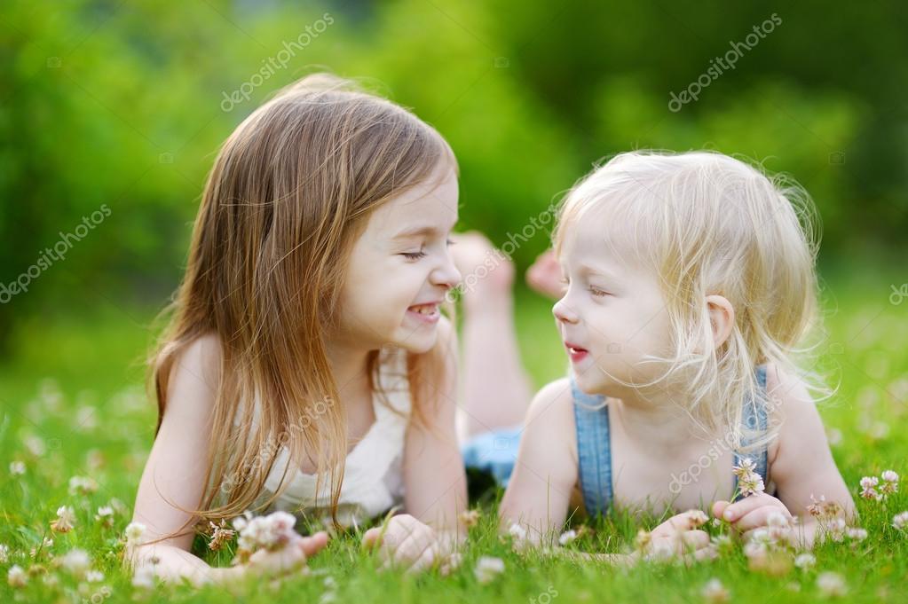 little sisters having fun