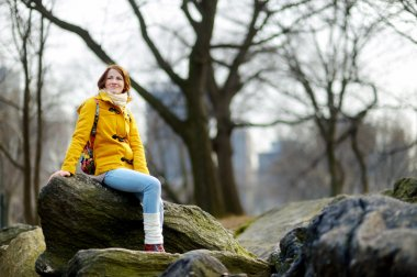 woman  in Central Park, New York