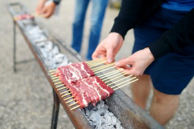 Barbecue on skewers with Arrosticini
