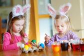 Fényképek Húsvéti tojásfestés nővérek