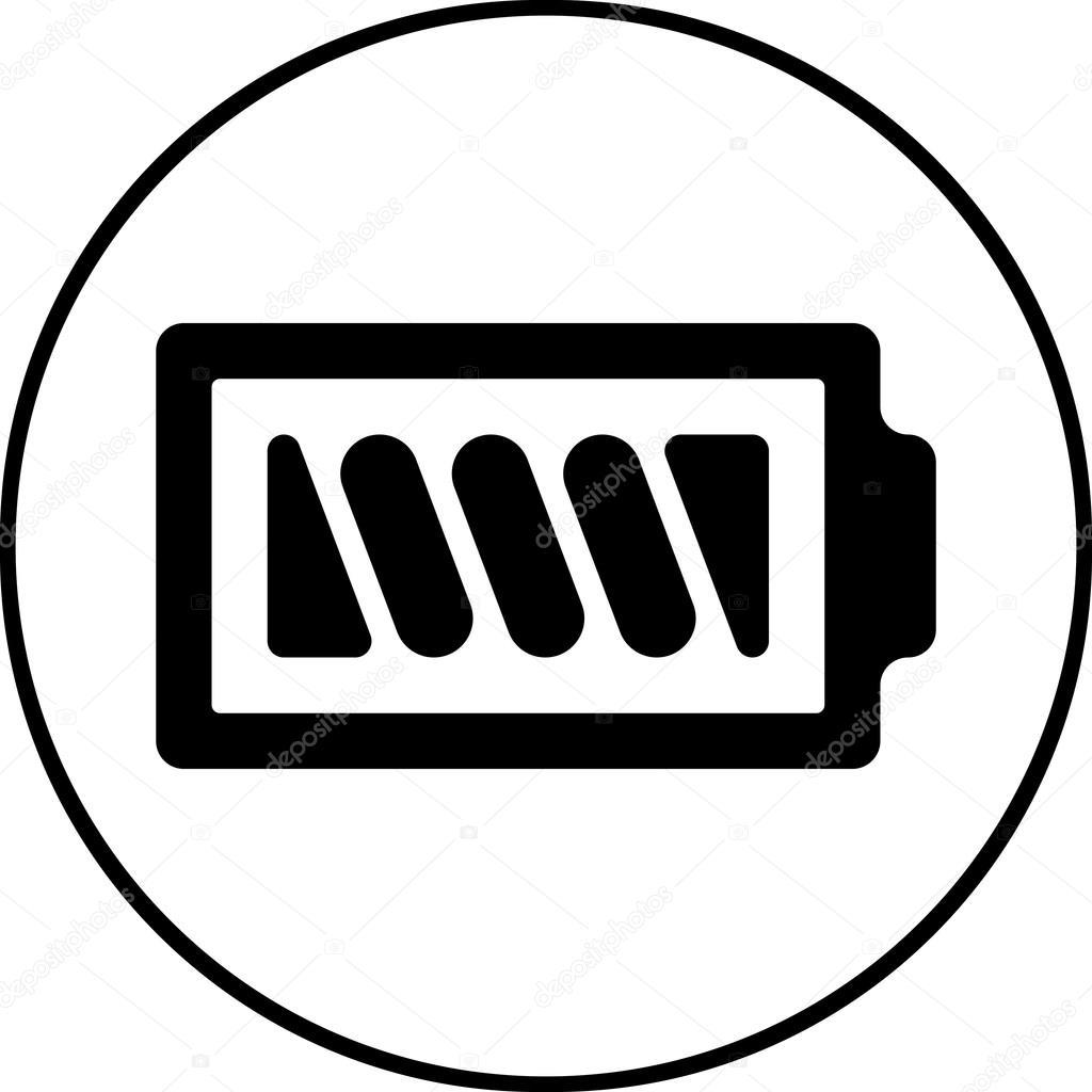 Batterie-Symbol - Vektor, flaches Design. EPS-10 — Stockvektor ...
