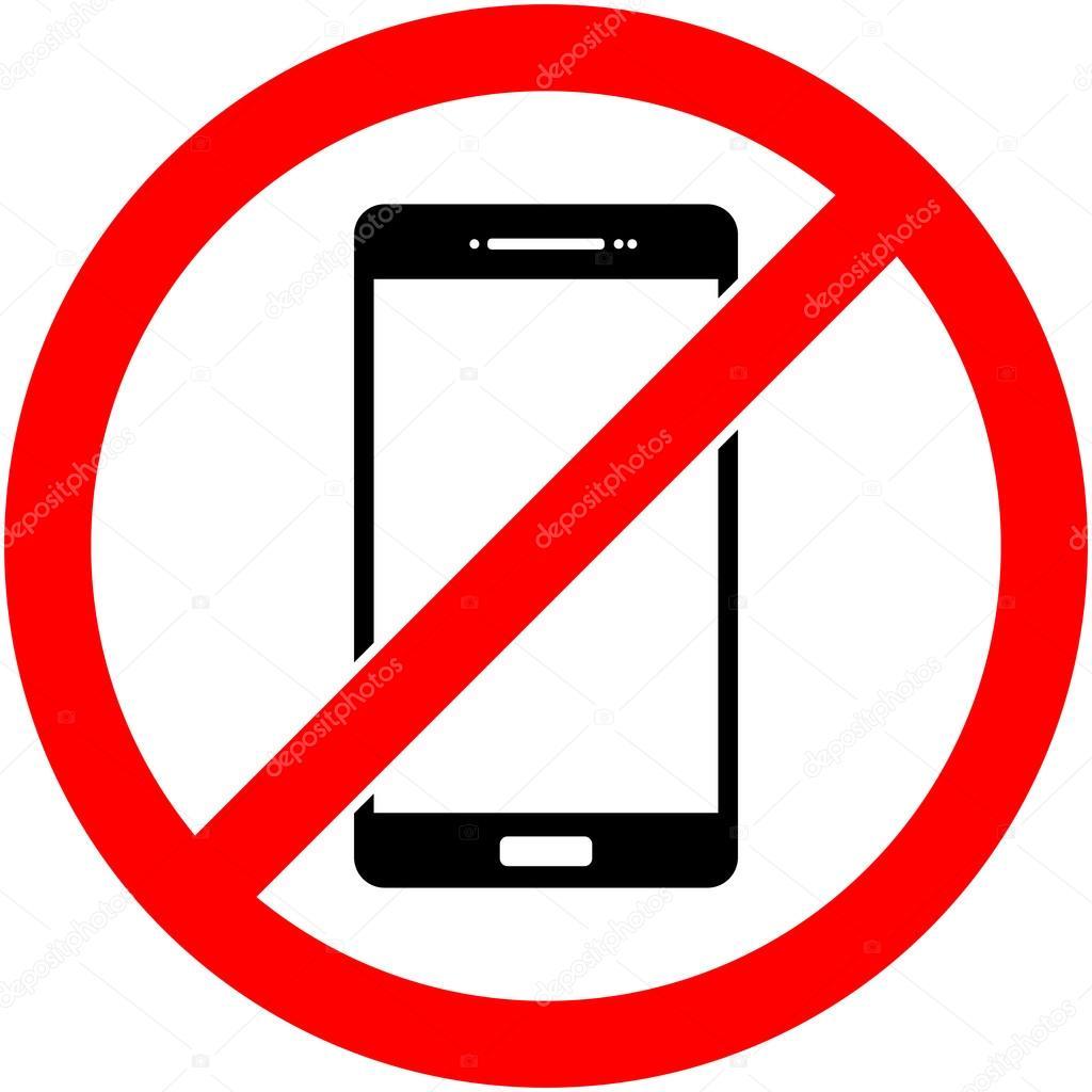 pas de t l phone t l phone interdit de symbole vector image vectorielle 109746856. Black Bedroom Furniture Sets. Home Design Ideas
