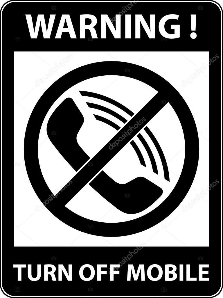 No Phone Telephone Prohibited Symbol Vector Stock Vector