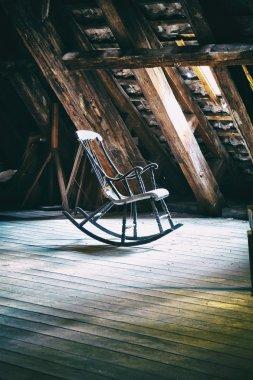 The rocking armchair on attic floor of Round Tower in Copenhagen