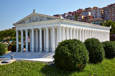 Miniaturk, Istanbul. A scale model reconstruction of Temple of A