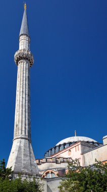 The minaret of Hagia Sophia, Istanbul, Turkey