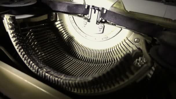 Closeup Vintage Typewriter