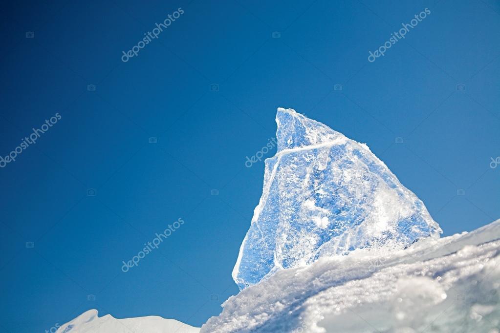 Baikal ice block