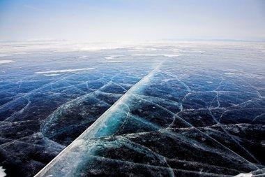 Ice texture on Baikal