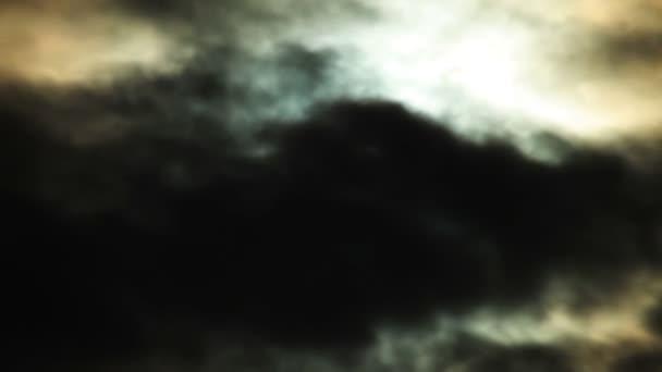 Měsíc s obláčky