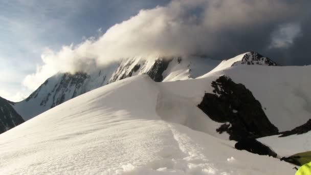 Mountain landscape with snowy peaks