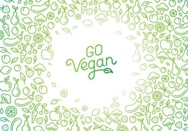 Go vegan - motivational poster or banner with hand-lettering