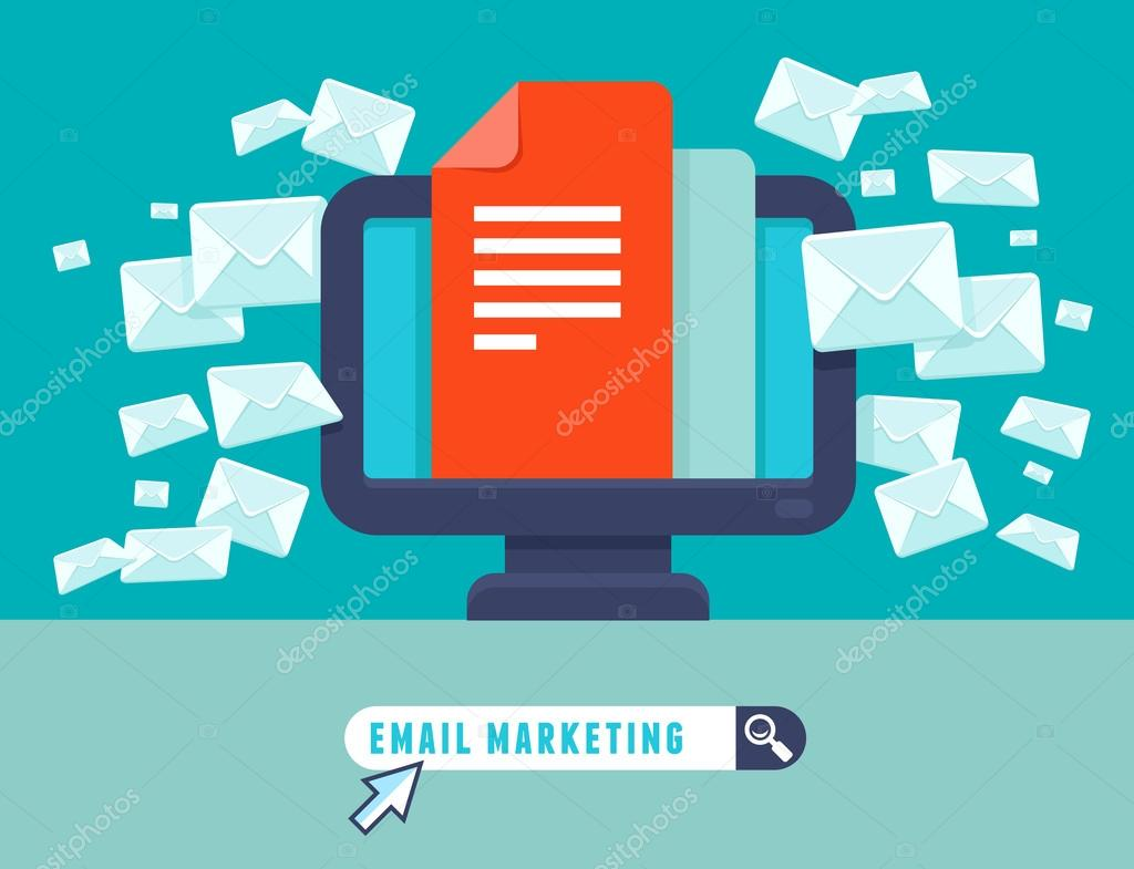 Vector email marketing concept