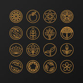 Fotografie Vector abstract emblem - nature symbols