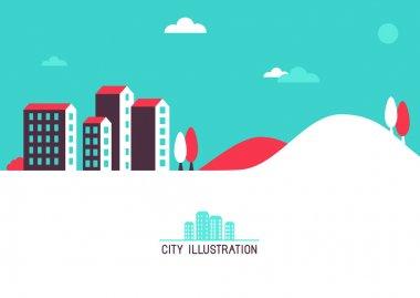 """Картина, постер, плакат, фотообои """"векторная плоская иллюстрация с яркими домами города санкт-петербург художник"""", артикул 54926871"""