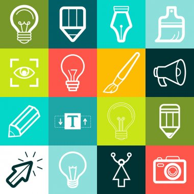 Vector graphic design symbols and signs