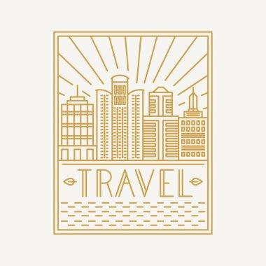Vector travel poster design template