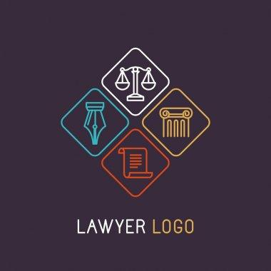 Vector linear logo
