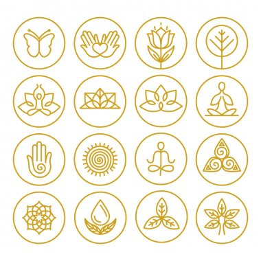 Vector yoga icons