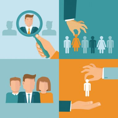 Vector business and employment concepts in flat style
