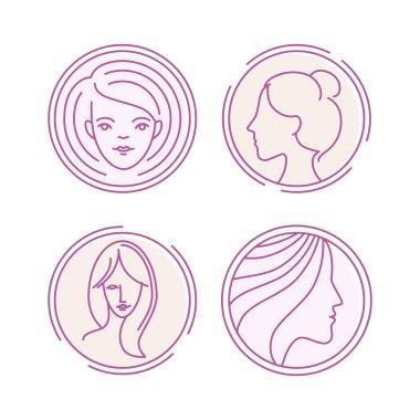 Vector female logos