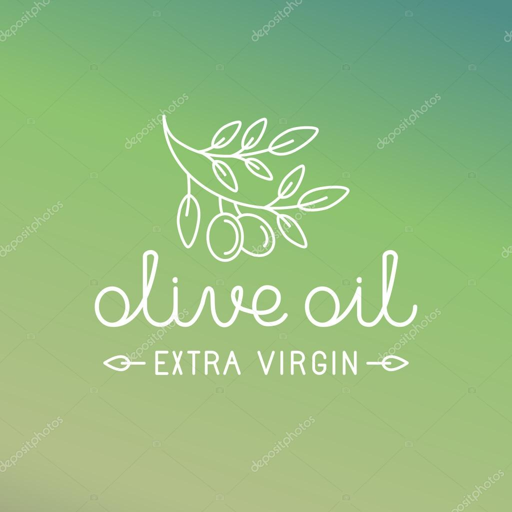Vector olive oil logo