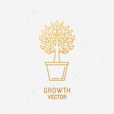 Growth concept and logo design element