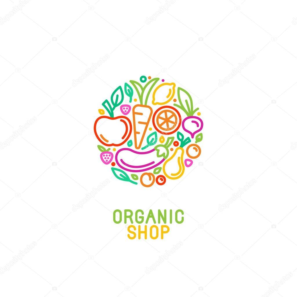 Depositphotos Stock Illustration Vector Logo Design Template With Vegetable Shop