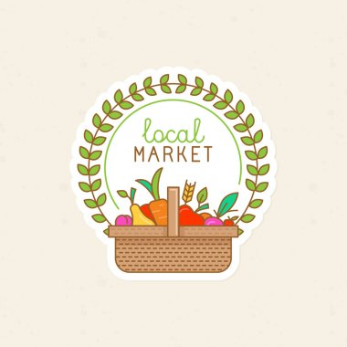 Vector linear badge - local market