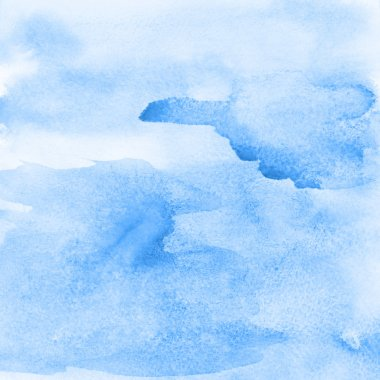 Blue abstract watercolor