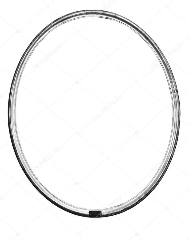 vintage silver oval frame — Stock Photo © valphoto #58440853