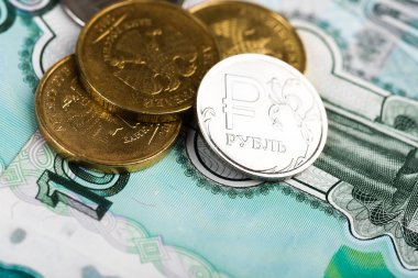 Russian ruble coins