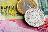 Fotografie Franken gegenüber Euro